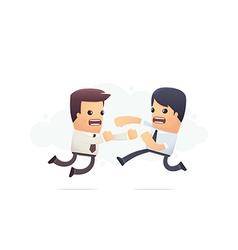 Fighting corporate employees vector