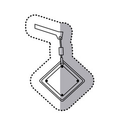 Figure crane hook holding tools blank warnings vector