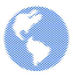 Fish earth mosaic vector