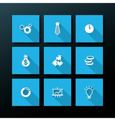 flat business icon set vector image