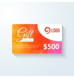 Gift voucher market offer template layout vector image