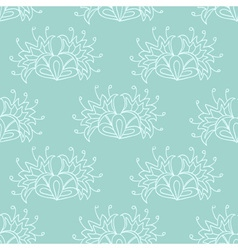 Green ethnic seamless pattern vector image