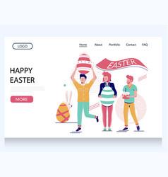 happy easter website landing page design vector image
