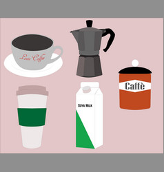 I love coffee pack vector