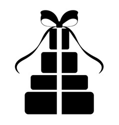 isolated present silhouette vector image