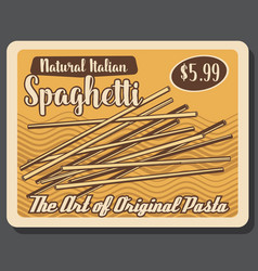 italian cuisine food spaghetti pasta vector image