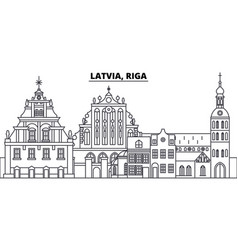 Latvia riga line skyline vector