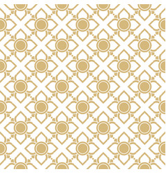 line thai traditional seamless pattern background vector image