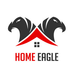 logo two eagle heads and houses vector image