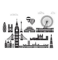 london city skyline 1 vector image
