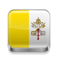 Metal icon of Vatican City vector image