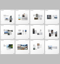 minimal brochure templates with gray color vector image