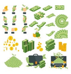 money big set of icons vector image
