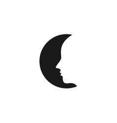 Moon face template design vector