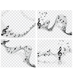 Musical designs vector