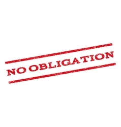 No Obligation Watermark Stamp vector image