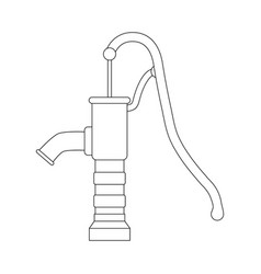 outline water pump design isolated on white vector image