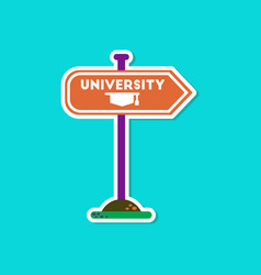Paper sticker on stylish background university vector