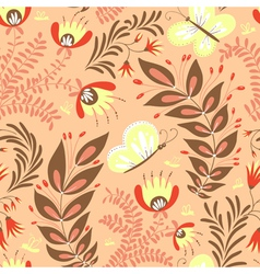Pattern with butterfly vector