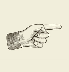 pointing finger vector image