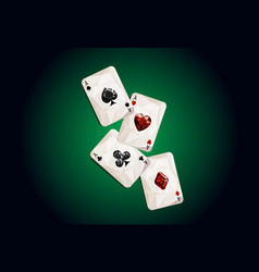 poker vector image