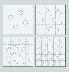 puzzles jigsaw vector image