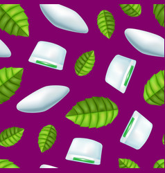 Realistic detailed 3d mints gum seamless pattern vector