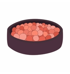Rouge balls in a red box icon cartoon style vector