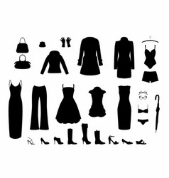 Shadow women s clothing vector