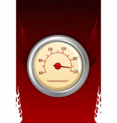 speedometer with fires vector image