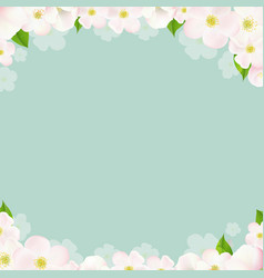 spring borders with apple flowers vector image