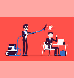 Stealing business bright ideas vector