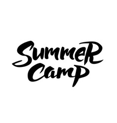 Summer camp hand drawn brush lettering vector