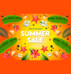 summer sale template web banner vector image