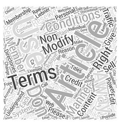 Terms and conditions Word Cloud Concept vector