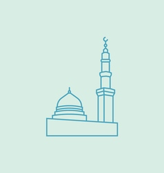 The Prophet s Mosque In Madina vector image
