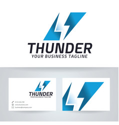 Thunder logo design vector