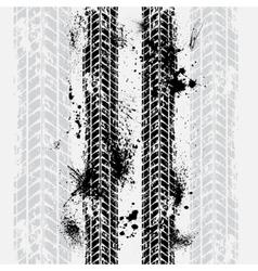 Tire tracks grunge background vector