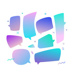 Trend speech bubbles set in a gradient design vector