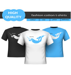 trendy realistic cotton t-shirts isolated vector image