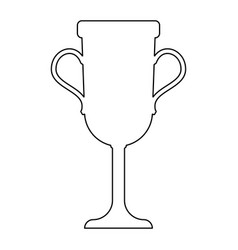 Trophy cup the black color icon vector