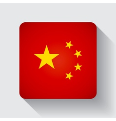 Web button with flag of China vector