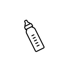 Web line icon baby bottle black on white vector