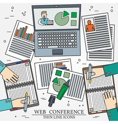 Wibinar web conference concept icon thin line for vector
