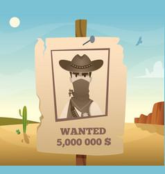 wild west frame american cowboy western symbols vector image