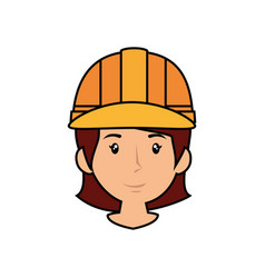 woman worker cartoon vector image