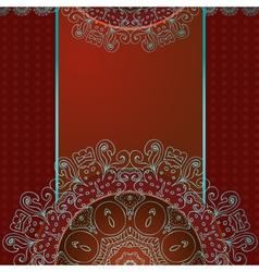arabesque frame3 vector image vector image