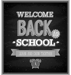 Back To School typographic design vector image vector image