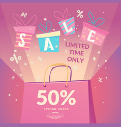 best offer big sale in the store vector image