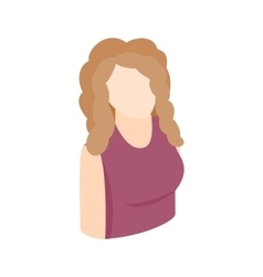 Blond woman icon isometric 3d style vector image vector image